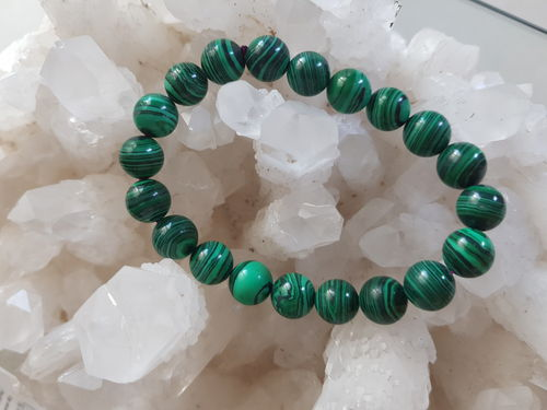 BRACELET MALACHITE 10 mm rond
