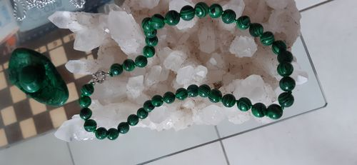 COLLIER MALACHITE 10 mm